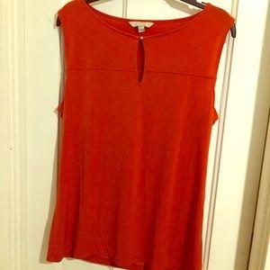 Burnt orange Banana Republic sleeveless blouse